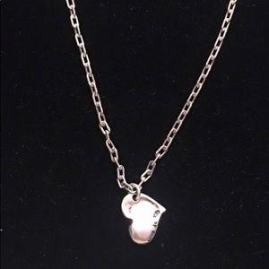 Uno de 50 Silver Heart pendant link necklace
